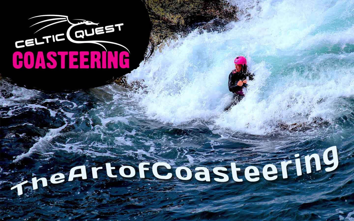 Celtic Quest Coasteering - join us for a fun family adventure Coasteering in Pembrokeshire Wales. Meet us at Abereiddy Blue Lagoon near St Davids, book online on our website!
