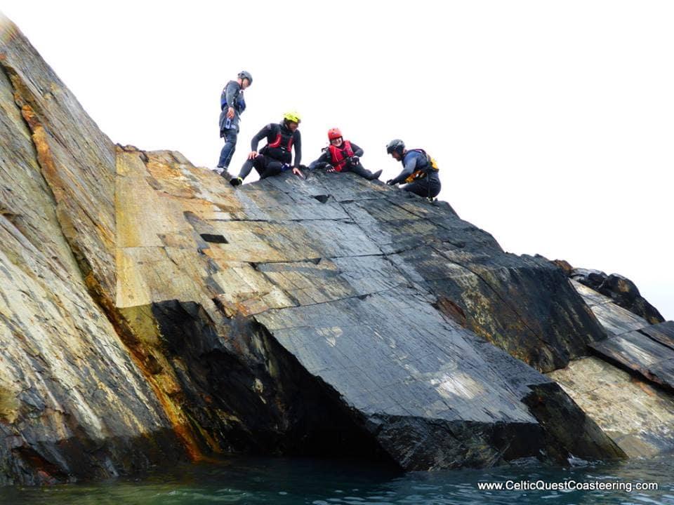 Emily Rose Yates Coasteering in Pembrokeshire