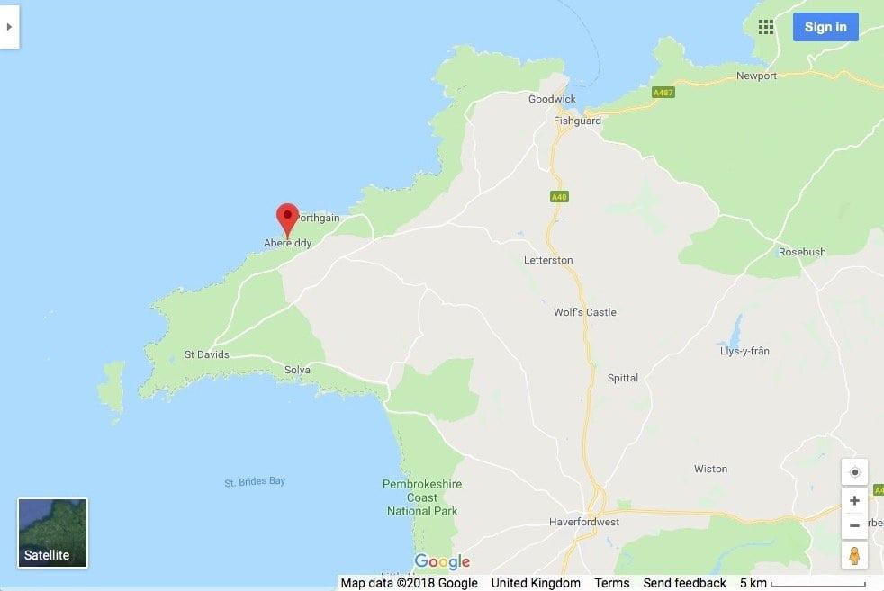 Google Maps Abereiddy Pembrokeshire