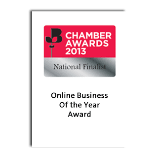 British Chamber of Commerce Business Awards 2013 Online Business of the Year - National Finalist