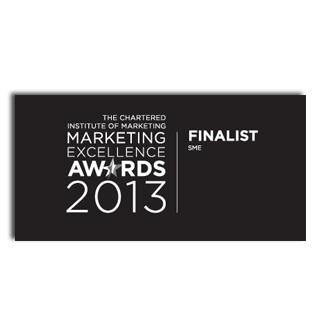 CIM - The Chartered Institute of Marketing - Marketing Excellence Awards 2013 - SME Category Award Finalist