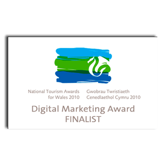 National Tourism Awards for Wales 2010 Digital Marketing Award Finalist
