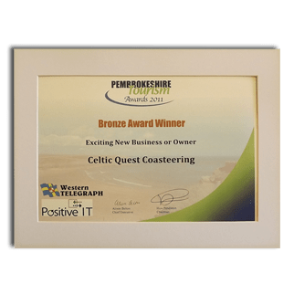 Pembrokeshire Tourism Awards 2011 Exciting New Business or Owner Bronze Award Winner
