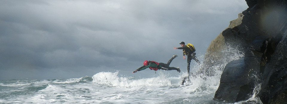 Stag party weekend, Coasteering in Pembrokeshire Wales
