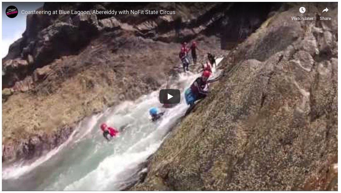 Coasteering movie, footage of NoFit State Circus team on an adventure with Celtic Quest Coasteering. Corporate clients achieve many goals from teamwork and leadership development to company away days and employee rewards.