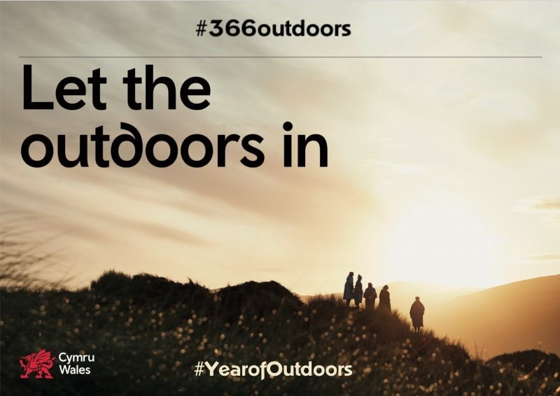 Wales marketing campaign, 2020 will be the year of Outdoors. Year of Outdoors will celebrate Wales' outstanding natural landscapes which are alive with world-leading adventure and a distinctive, contemporary culture.